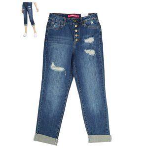 Dollhouse 28Wx26L Button Fly Boyfriend Jeans NWT